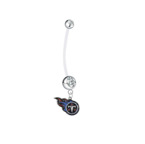 Tennessee Titans Pregnancy Maternity Clear Belly Button Navel Ring - Pick Your Color