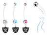 Oakland Raiders Boy/Girl Pregnancy Maternity Belly Button Navel Ring