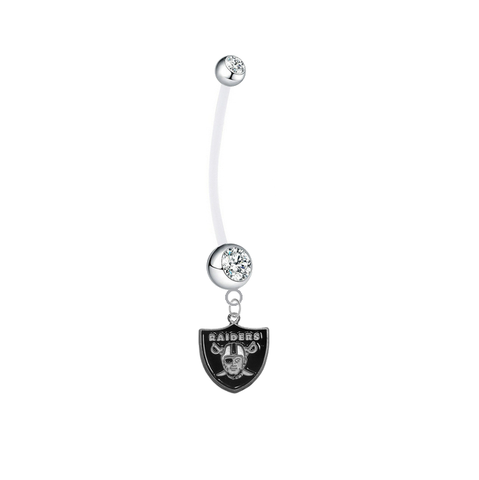 Oakland Raiders Boy/Girl Clear Pregnancy Maternity Belly Button Navel Ring