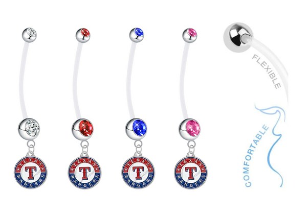 Texas Rangers Pregnancy Maternity Belly Button Navel Ring - Pick Your Color