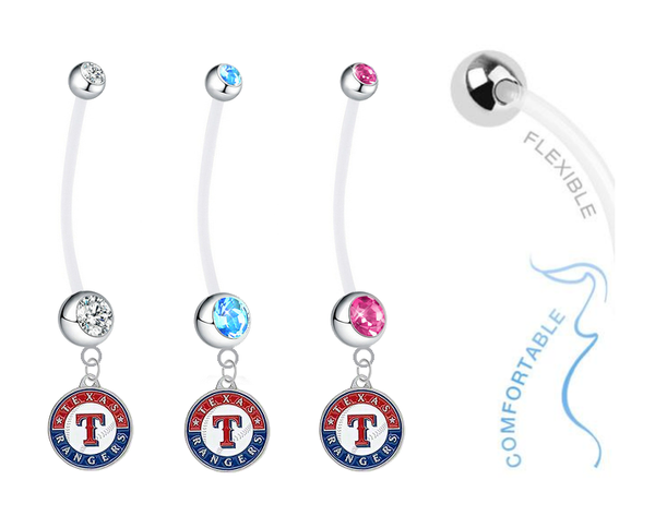 Texas Rangers Boy/Girl Pregnancy Maternity Belly Button Navel Ring