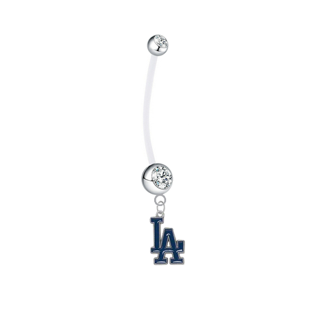 Los Angeles Dodgers Pregnancy Maternity Clear Belly Button Navel Ring - Pick Your Color