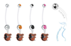 Baltimore Orioles Mascot Pregnancy Maternity Belly Button Navel Ring - Pick Your Color