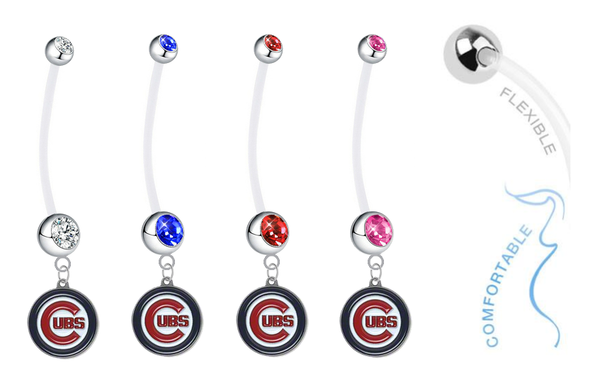 Chicago Cubs Pregnancy Maternity Belly Button Navel Ring - Pick Your Color