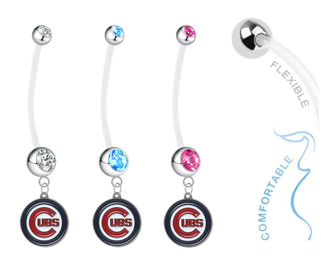 Chicago Cubs Boy/Girl Pregnancy Maternity Belly Button Navel Ring