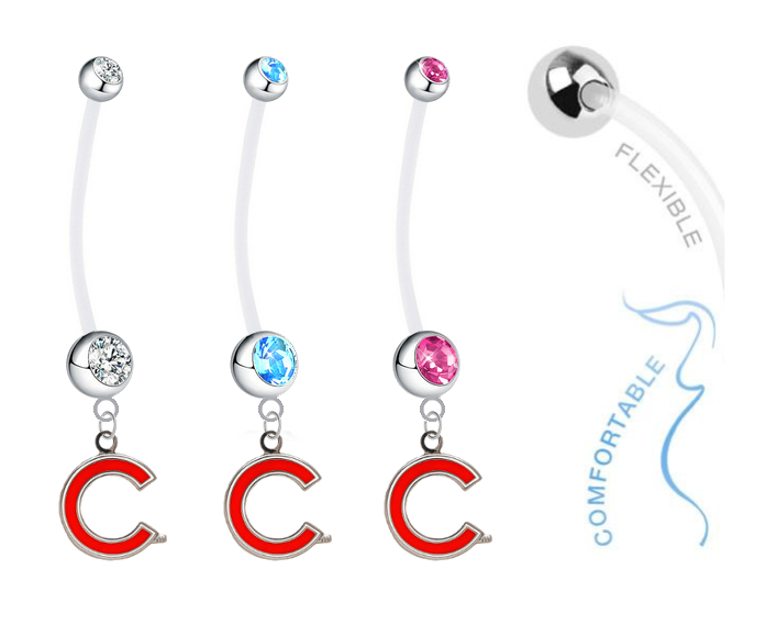 Chicago Cubs Style 2 Boy/Girl Pregnancy Maternity Belly Button Navel Ring