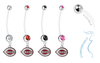 Cincinnati Reds Pregnancy Maternity Belly Button Navel Ring - Pick Your Color