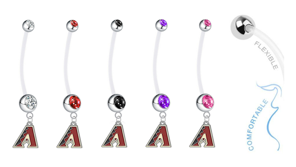 Arizona Diamondbacks Pregnancy Maternity Belly Button Navel Ring - Pick Your Color