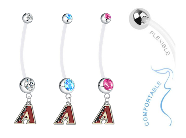 Arizona Diamondbacks Boy/Girl Pregnancy Maternity Belly Button Navel Ring