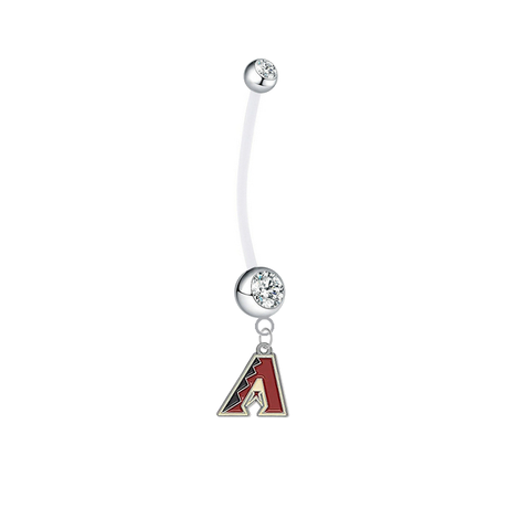 Arizona Diamondbacks Pregnancy Maternity Clear Belly Button Navel Ring - Pick Your Color