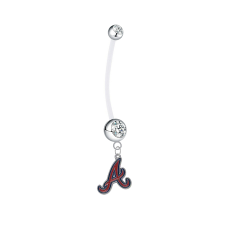 Atlanta Braves Pregnancy Clear Maternity Belly Button Navel Ring - Pick Your Color