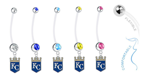 Kansas City Royals Pregnancy Maternity Belly Button Navel Ring - Pick Your Color