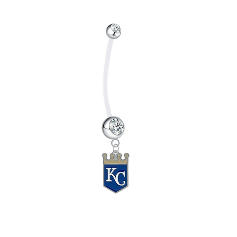 Kansas City Royals Pregnancy Clear Maternity Belly Button Navel Ring - Pick Your Color