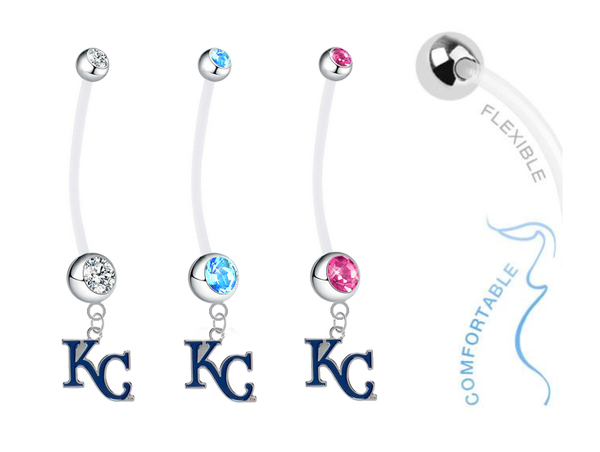 Kansas City Royals Style 2 Boy/Girl Pregnancy Maternity Belly Button Navel Ring