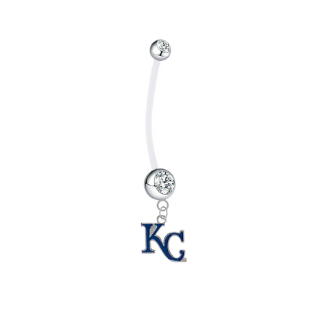 Kansas City Royals Style 2 Boy/Girl Clear Pregnancy Maternity Belly Button Navel Ring