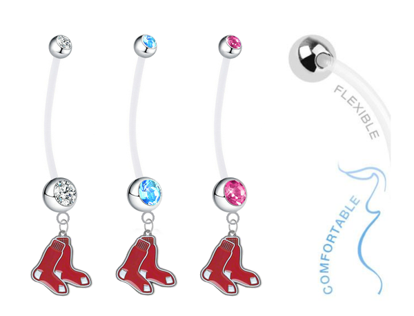 Boston Red Sox Boy/Girl Pregnancy Maternity Belly Button Navel Ring
