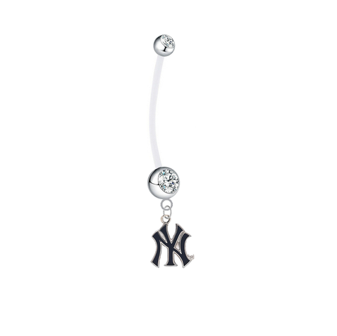 New York Yankees Style 2 Boy/Girl Clear Pregnancy Maternity Belly Button Navel Ring