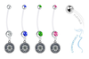 Seattle Mariners Pregnancy Maternity Belly Button Navel Ring - Pick Your Color