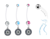 Seattle Mariners Boy/Girl Pregnancy Maternity Belly Button Navel Ring