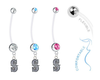 Seattle Mariners Style 2 Boy/Girl Pregnancy Maternity Belly Button Navel Ring