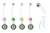 Oakland Athletics Pregnancy Maternity Belly Button Navel Ring - Pick Your Color