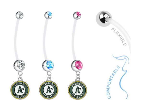 Oakland Athletics Boy/Girl Pregnancy Maternity Belly Button Navel Ring