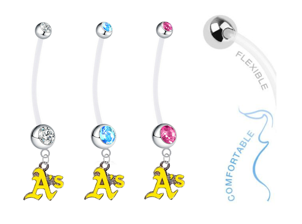Oakland Athletics Style 2 Boy/Girl Pregnancy Maternity Belly Button Navel Ring