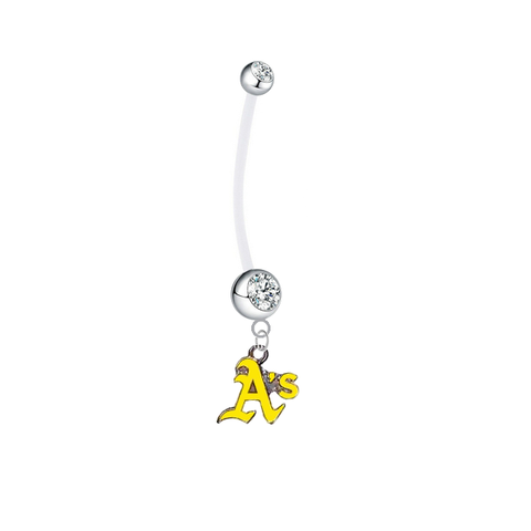 Oakland Athletics Style 2 Boy/Girl Clear Pregnancy Maternity Belly Button Navel Ring