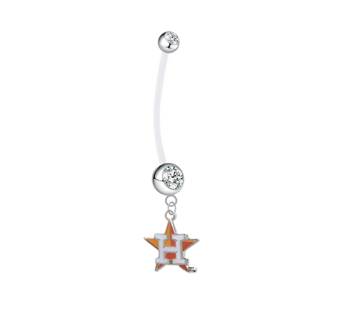 Houston Astros Style 2 Boy/Girl Clear Pregnancy Maternity Belly Button Navel Ring