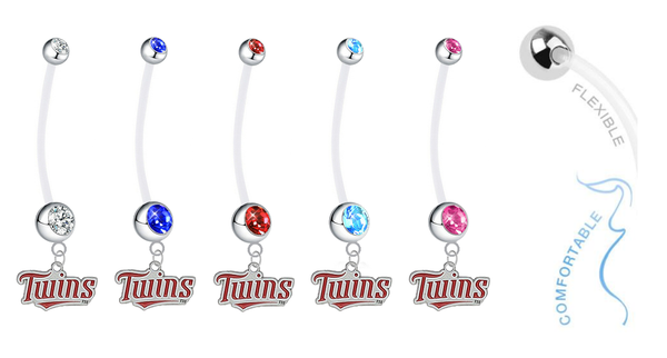 Minnesota Twins Pregnancy Maternity Belly Button Navel Ring - Pick Your Color