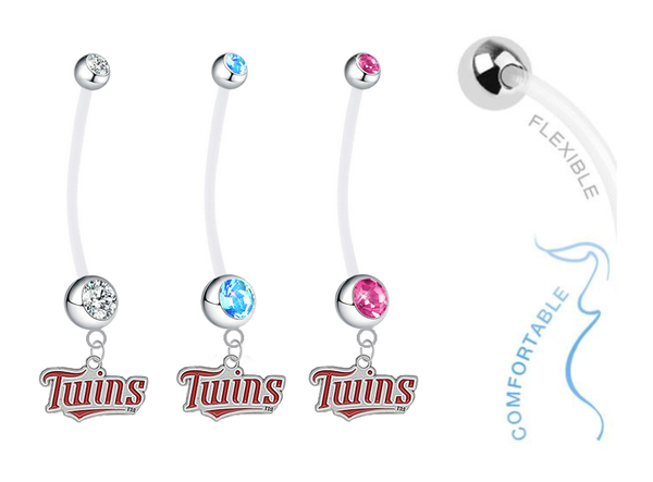Minnesota Twins Boy/Girl Pregnancy Maternity Belly Button Navel Ring