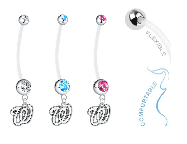 Washington Nationals Boy/Girl Pregnancy Maternity Belly Button Navel Ring