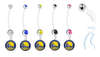 Golden State Warriors Pregnancy Maternity Belly Button Navel Ring - Pick Your Color