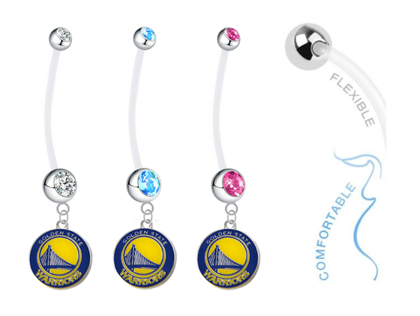 Golden State Warriors Boy/Girl Pregnancy Maternity Belly Button Navel Ring
