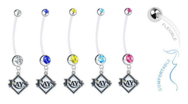 Tampa Bay Rays Pregnancy Maternity Belly Button Navel Ring - Pick Your Color