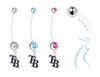 Tampa Bay Rays Style 2 Boy/Girl Pregnancy Maternity Belly Button Navel Ring