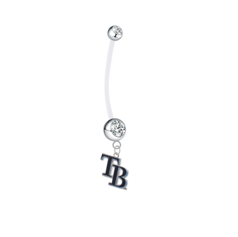 Tampa Bay Rays Style 2 Boy/Girl Clear Pregnancy Maternity Belly Button Navel Ring