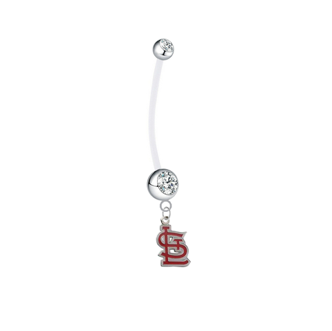 St Louis Cardinals Style 2 Boy/Girl Clear Pregnancy Maternity Belly Button Navel Ring
