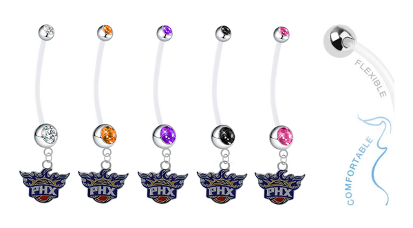 Phoenix Suns Pregnancy Maternity Belly Button Navel Ring - Pick Your Color