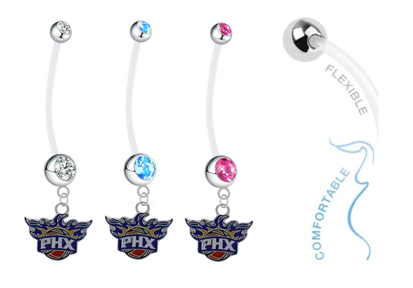 Phoenix Suns Boy/Girl Pregnancy Maternity Belly Button Navel Ring