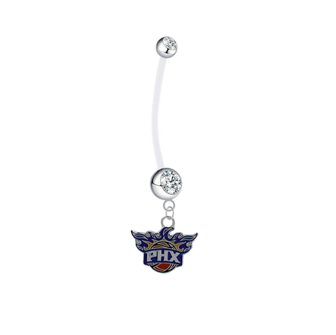Phoenix Suns Pregnancy Maternity Clear Belly Button Navel Ring - Pick Your Color