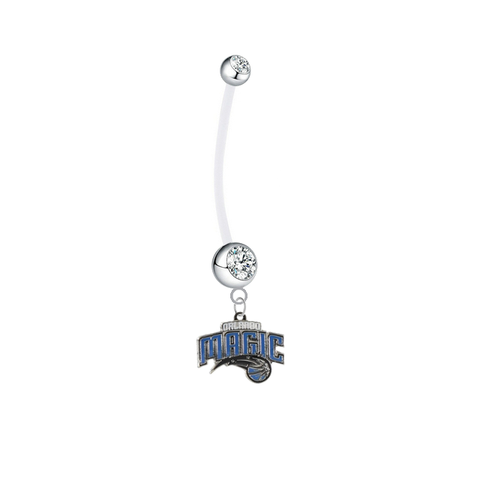 Orlando Magic Pregnancy Maternity Clear Belly Button Navel Ring - Pick Your Color