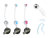 Utah Jazz Boy/Girl Pregnancy Maternity Belly Button Navel Ring