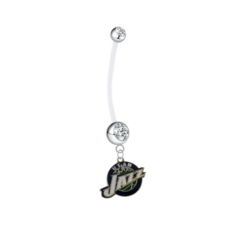 Utah Jazz Pregnancy Maternity Clear Belly Button Navel Ring - Pick Your Color
