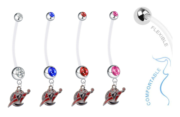 Washington Wizards Pregnancy Maternity Belly Button Navel Ring - Pick Your Color