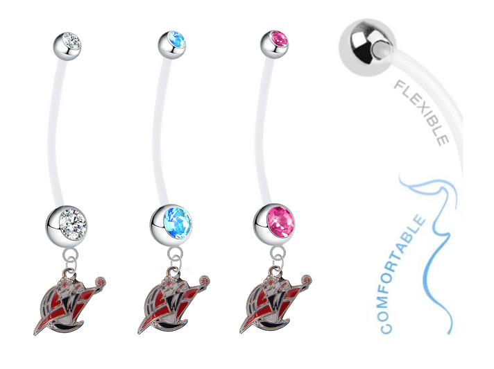 Washington Wizards Boy/Girl Pregnancy Maternity Belly Button Navel Ring