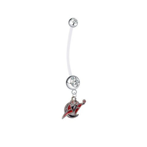 Washington Wizards Pregnancy Clear Maternity Belly Button Navel Ring - Pick Your Color