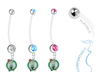 Boston Celtics Boy/Girl Pregnancy Maternity Belly Button Navel Ring