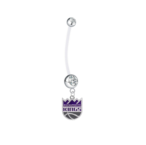 Sacramento Kings Pregnancy Maternity Clear Belly Button Navel Ring - Pick Your Color