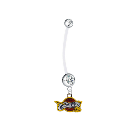 Cleveland Cavaliers Pregnancy Maternity Clear Belly Button Navel Ring - Pick Your Color